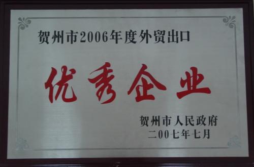 2006年 进出口贸易优秀企业