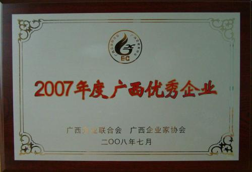 2007年 2007年度yabo娱乐vip优秀企业