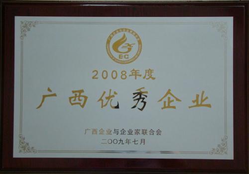2008年 2008年度yabo娱乐vip优秀企业