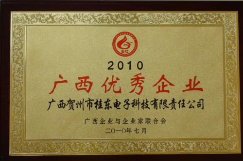 2010年 2010年度yabo娱乐vip优秀企业